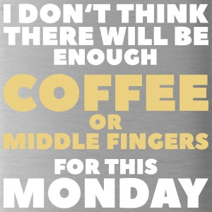 Funny Coffee Quotes> Enough middelvingers - Drinkfles