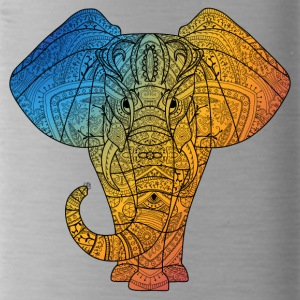 Elephant in rainbow color - Water Bottle