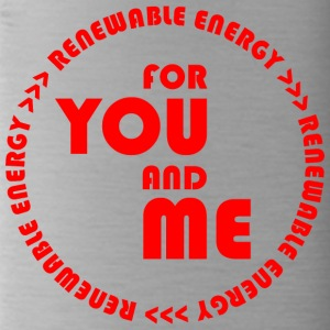 RENEWABLE ENERGY for you and me - red - Water Bottle