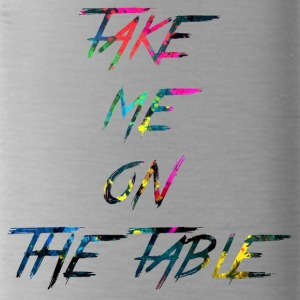 rainbow take me on the table - Water Bottle