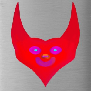 heart horns devil satan abstract - Water Bottle