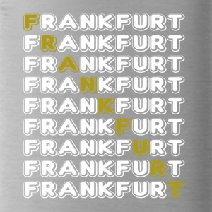 Frankfurt font white - Water Bottle