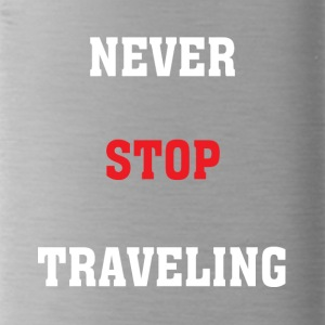 Never Stop Travelling - Water Bottle