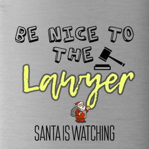 Be nice to the lawyer because Santa is watching - Water Bottle