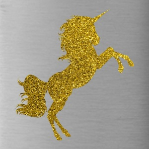 Golden Unicorn - Golden Unicorn Gold Glitter - Water Bottle