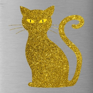 Golden Cat - Golden Cat Gold Glitter Glitter - Water Bottle
