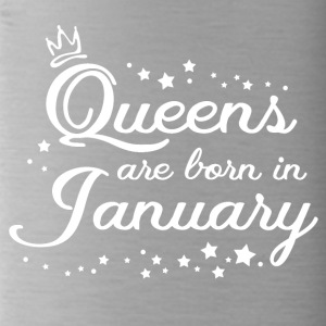 QUEENS ARE BORN IN JANUARY - Trinkflasche