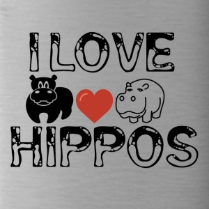 I love Hippos - Water Bottle