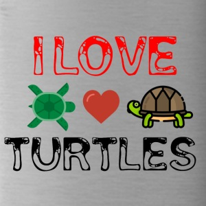J'adore les tortues - Gourde