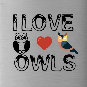 I love owls - Water Bottle