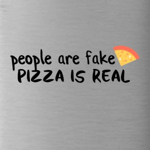 Pizza is real People are fake - Water Bottle