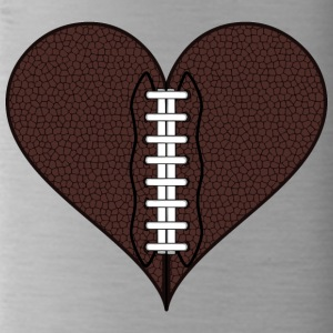 American Football Heart - Trinkflasche