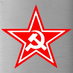 Communist red star flag - Water Bottle