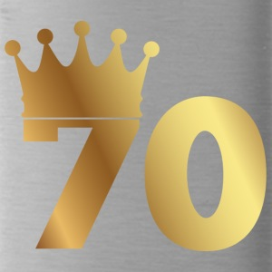 70th birthday: 70 with crown - Water Bottle
