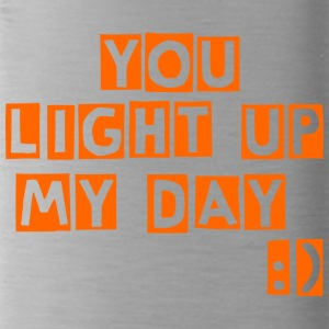 you light up my day - Water Bottle