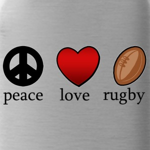 Peace Love Rugby - Drikkeflaske