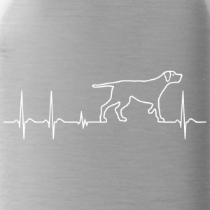 Heartbeat Heartbeat Dog Kärlek Gift Child - Vattenflaska
