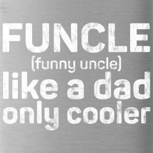 Funcle - Funny Uncle like a dad only cooler grunge - Water Bottle