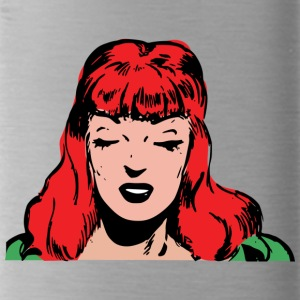 Red-haired woman - Water Bottle