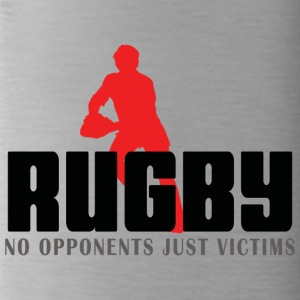Rugby No Opponents Just Victims - Water Bottle