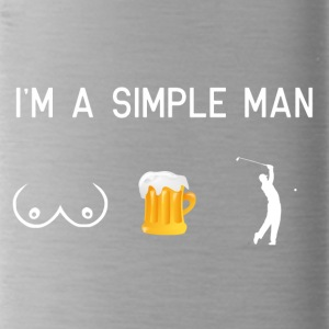 I am a simple man - tits beer golfing - Water Bottle