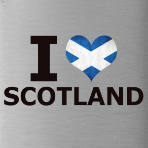 I LOVE SCOTLAND FLAG - Trinkflasche