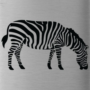 A Zebra Eating - Water Bottle