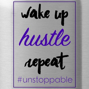 wake up, hustle,repeat - Trinkflasche