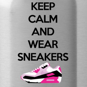 Keep calm and wear Sneakers - Trinkflasche