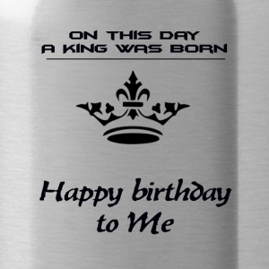 hapy birthday - Water Bottle