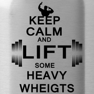 KEEP CALM lift some heavy weights - Trinkflasche