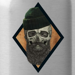 beard skull fisherman - Water Bottle