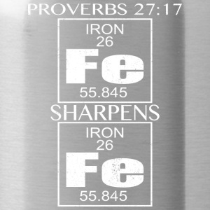 Proverbes 27:17 verset de la Bible T-shirt Bible Citation shirt - Gourde
