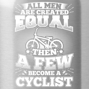 Funny Bicycle Cycling Shirt All Men Equal - Water Bottle