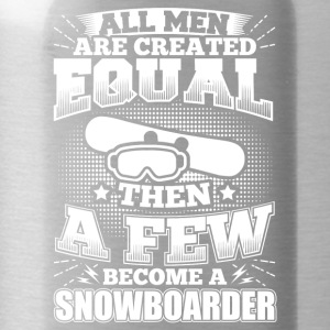 Funny Snowboard Snowboarding Shirt All Men Equal - Water Bottle