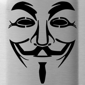 Vendetta masker - Guy Fawkes (Anonymous) - Drinkfles