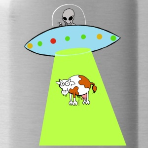 Cow and UFO - Water Bottle