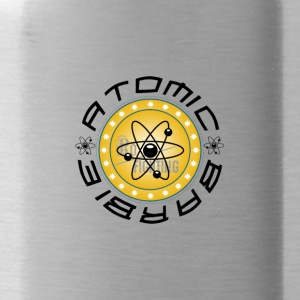 Atomic Barb Gold Workout Fitness Gym Bodybuilding - Water Bottle