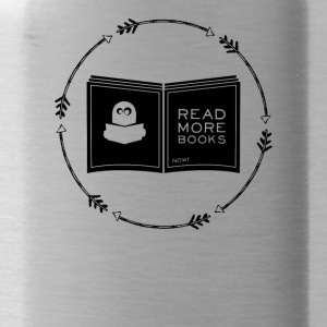 Read more books - read more books - Water Bottle