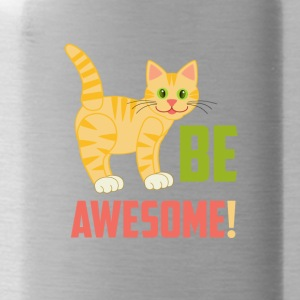 BE AWESOME CAT - Drinkfles