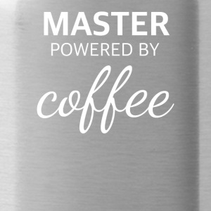 MASTER powered by COFFEE lustiges Master Design - Trinkflasche