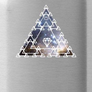 Illuminati Nerd Triangle Game Eye Pyramid Space - Water Bottle