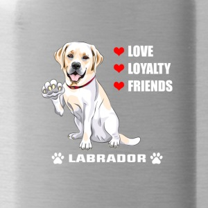 Hunde T Shirt | Labrador - Love - Loyalty - Friend - Trinkflasche