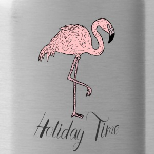 Rosa Paradiesvogel Flamingo - Holiday Time T-Shirt - Trinkflasche