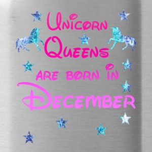 Unicorn Queens born December december - Water Bottle