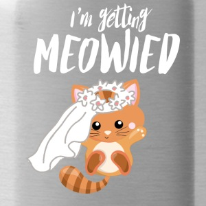 I Marry - Sweet Cat - Engagement Wedding! - Water Bottle