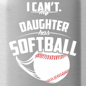 My daughter has softball - Water Bottle