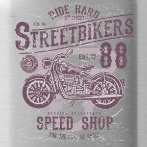 Motorcycle Chopper Biker Highway Motor Kerstmis - Drinkfles