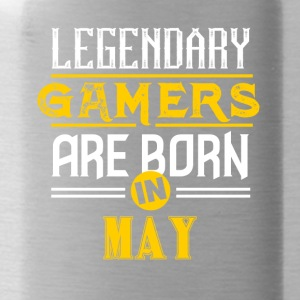 Legendary Gamers are born in May - Water Bottle