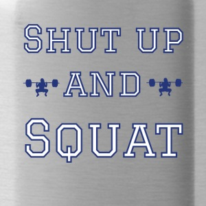 Fitness Squat Gym T-Shirt - Trinkflasche